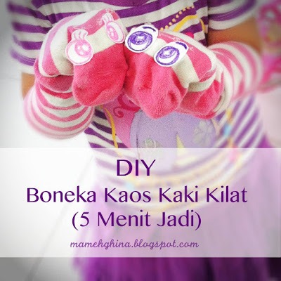 DIY Boneka Kaos Kaki Kilat